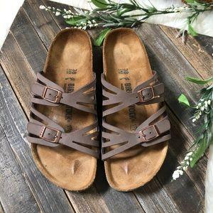 Birkenstock Granada Mocha Double Strap Sandals